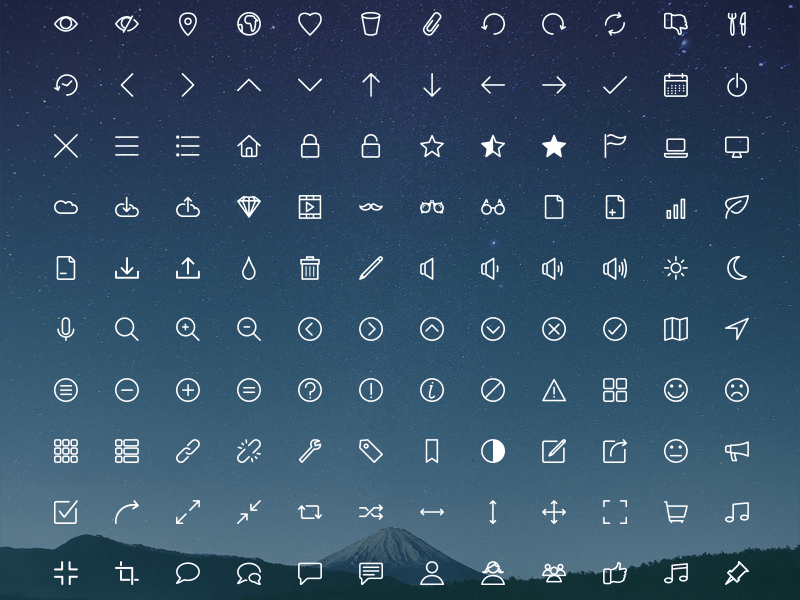 Rivolicons icon set SVG, Ai