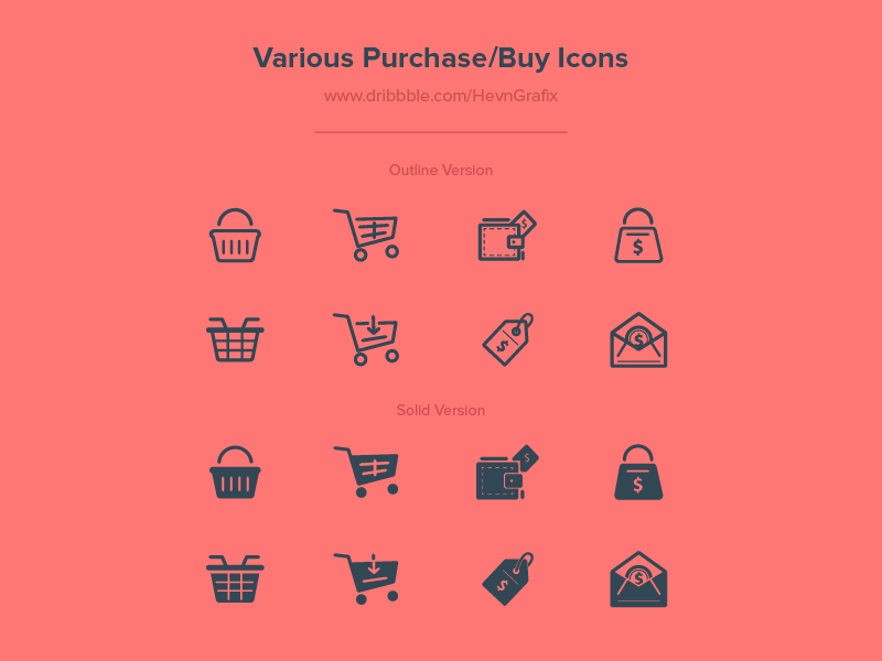 16 Purchase/Buy Icons