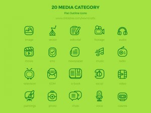20 Flat Outline icon
