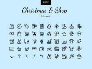 Christmas - Shop vector icons