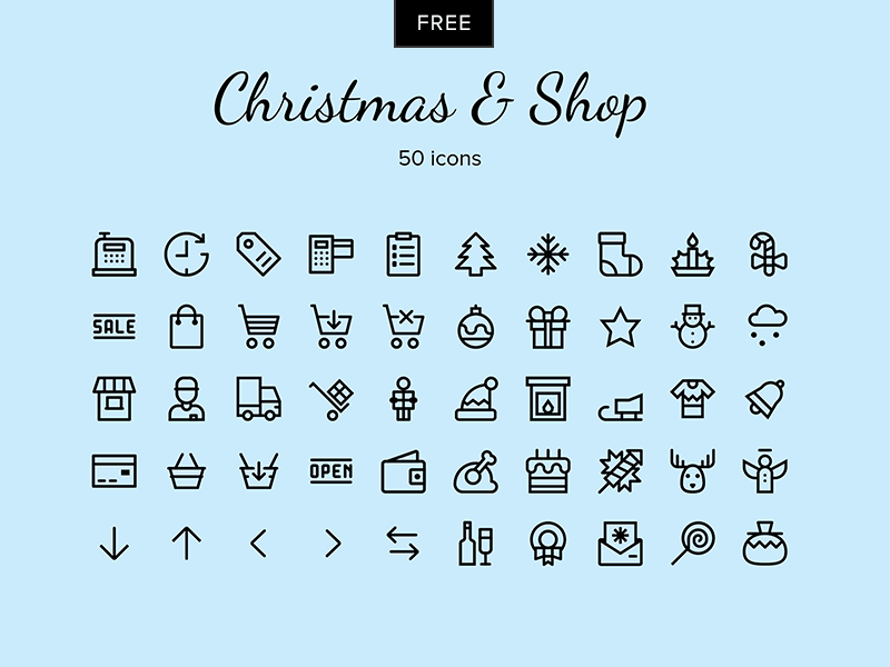 Christmas – Shop vector icons