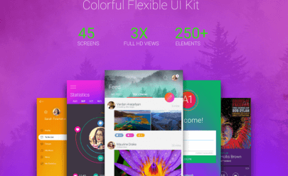 Colorful UI Kit PSD