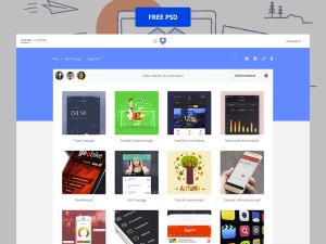 Dropbox redesign free psd