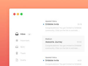 Mail App Design Sketch