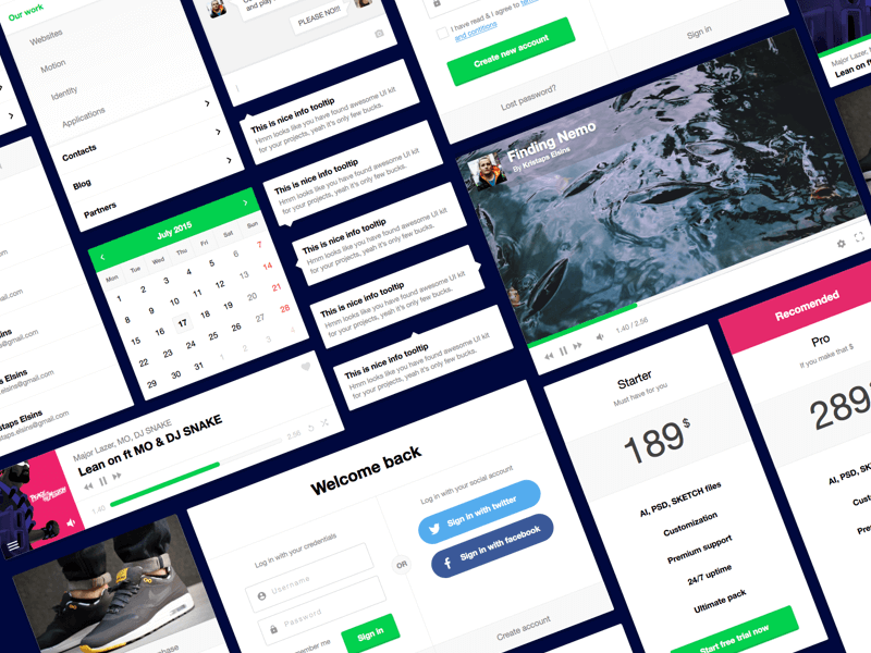 Free Ui Kit Sketch 3