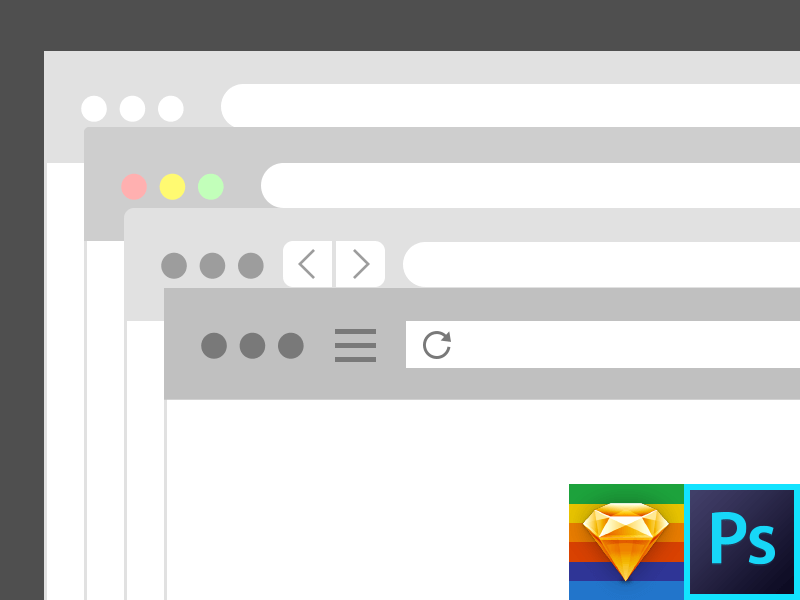 Browser PS & Sketch Template