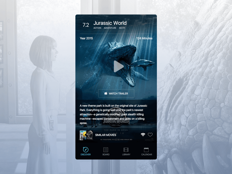Movie App Sketch Design