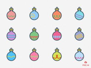 12 Christmas Ornaments