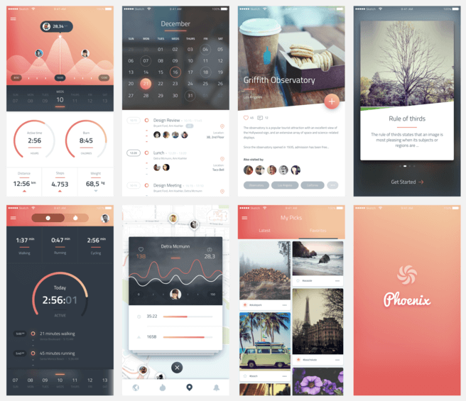 Amazing Mobile UI Kit Sketch-PSD