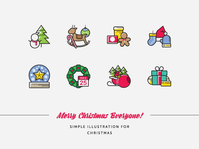 Christmas icons 2016