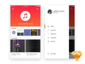 ios music app Sketch