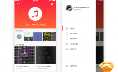 ios music app Sketch