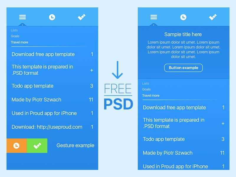 Blue App Template