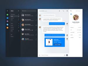 Chat Dashboard PSD