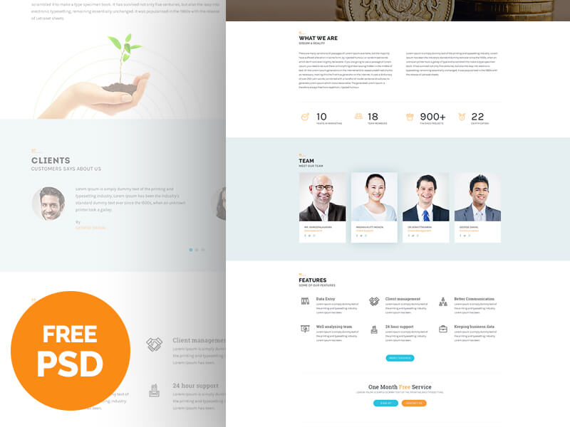 Cool Business Free PSD Template