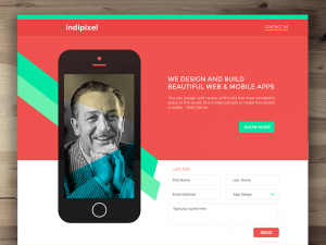 Landing Page Template PSD