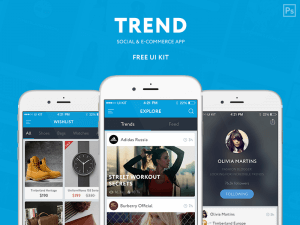 Amazing Trend Ui Kit PSD