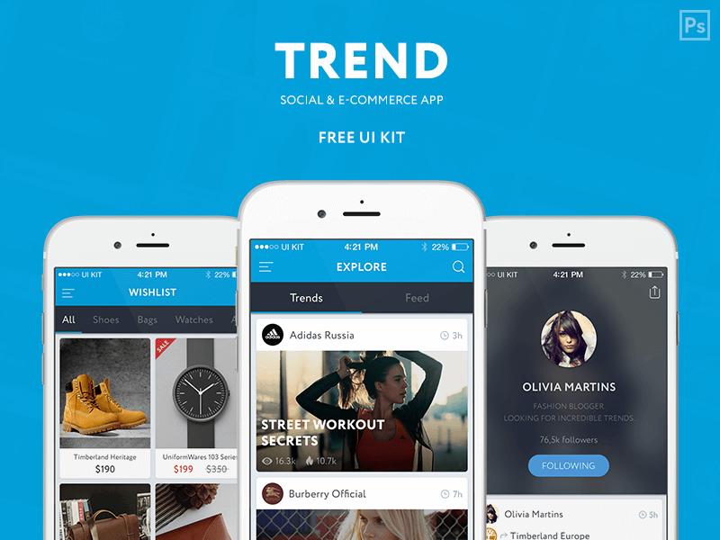 Amazing Trend Ui Kit PSD
