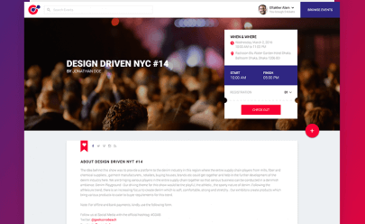 Event Website Template PSD