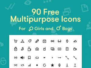 90 Free multipurpose icons