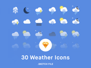 Weather Icons Sketch app