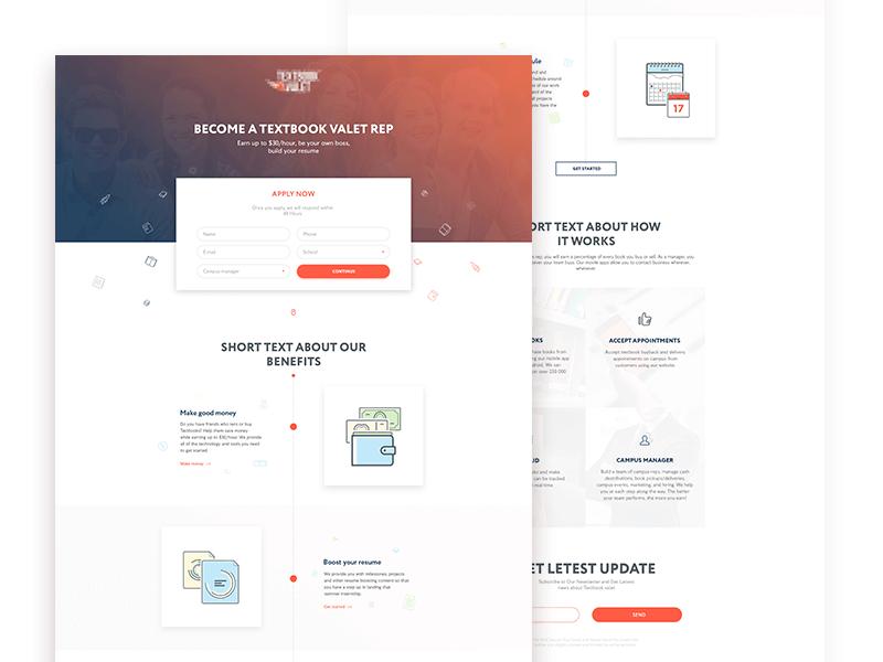 2016 Stylish Landing Page Template PSD