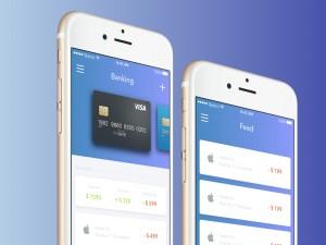 Banking UI app Sketch