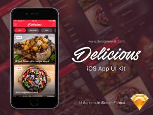 Eat app Template Sketch app