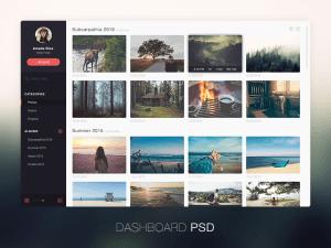 Photo management application design PSD