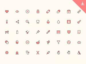 40 Health Icon Set