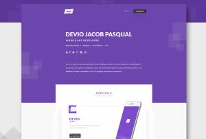 Devio - Free One Page Portfolio Template PSD