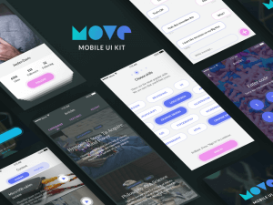 Purple Mobile UI Kit for Sketch