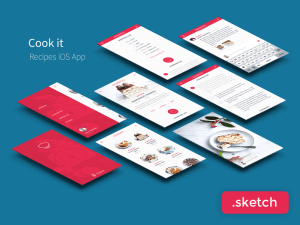 Recipes App UI Kit Sketch