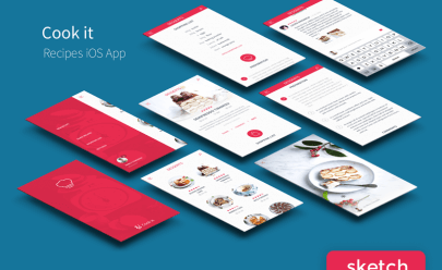 Recipes App UI Kit Sketch