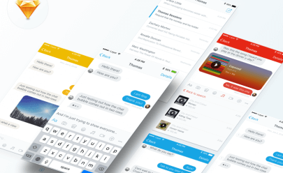 Messaging UI Kit Sketch app
