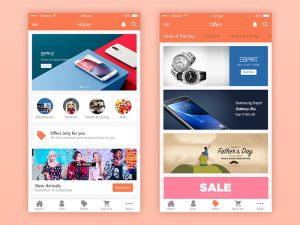 eCommerce iPhone app PSD