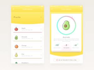 Food Calories App Design Sketch