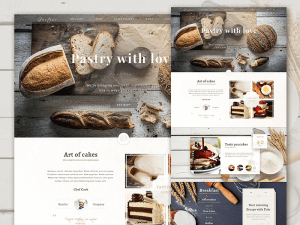 Food Website Landing Page PSD