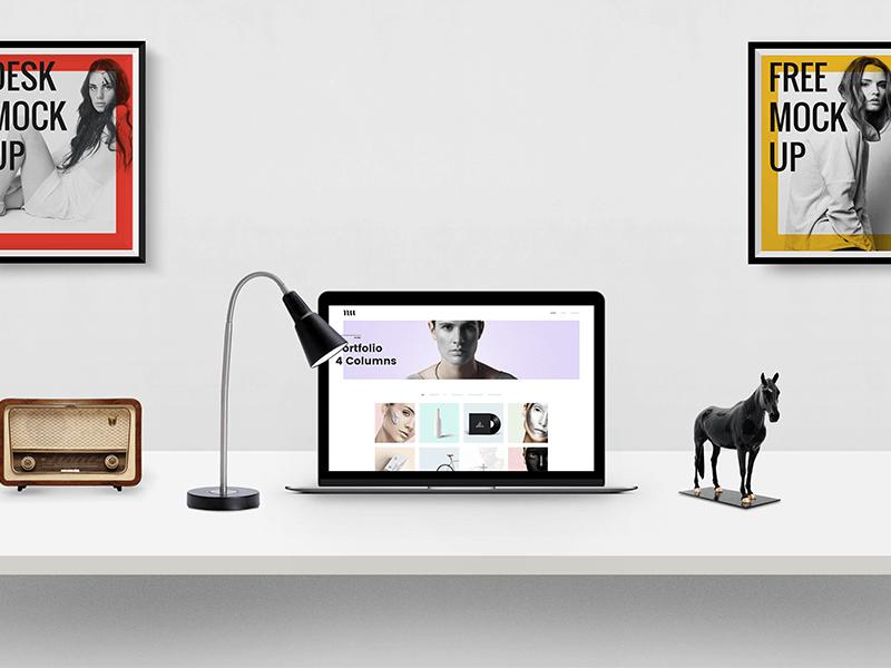 Desk Presentation Mockup PSD