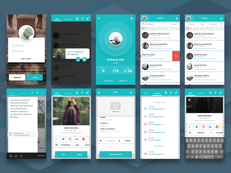 Material Mobile App Design Sketch app