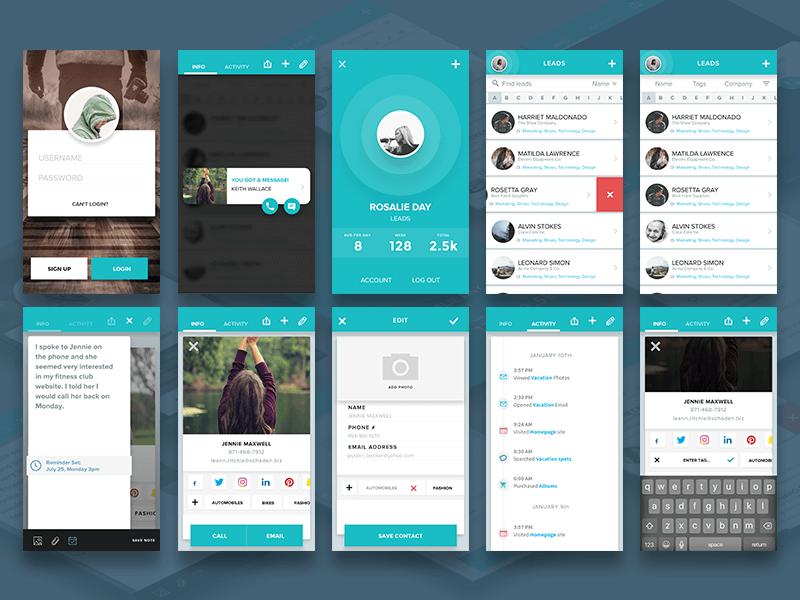 Material Mobile App Design Sketch app sketch