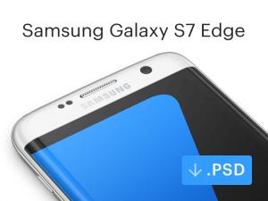 Samsung Galaxy S7 Edge Mockup PSD
