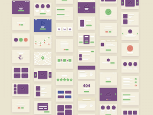 36 Cards for Flowcharts PSD