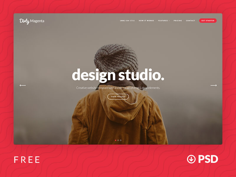 Agency Website Template PSD