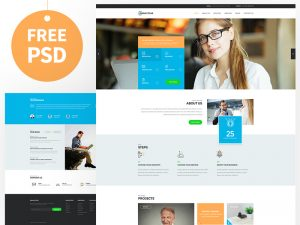 Consult Website Template PSD