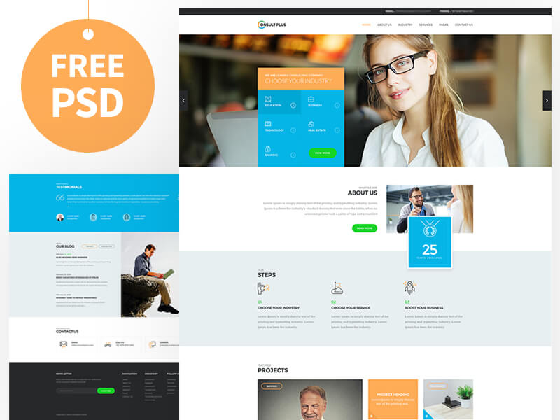 Consultant Website Template PSD