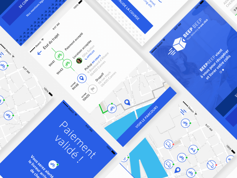 Delivery App Design Sketch