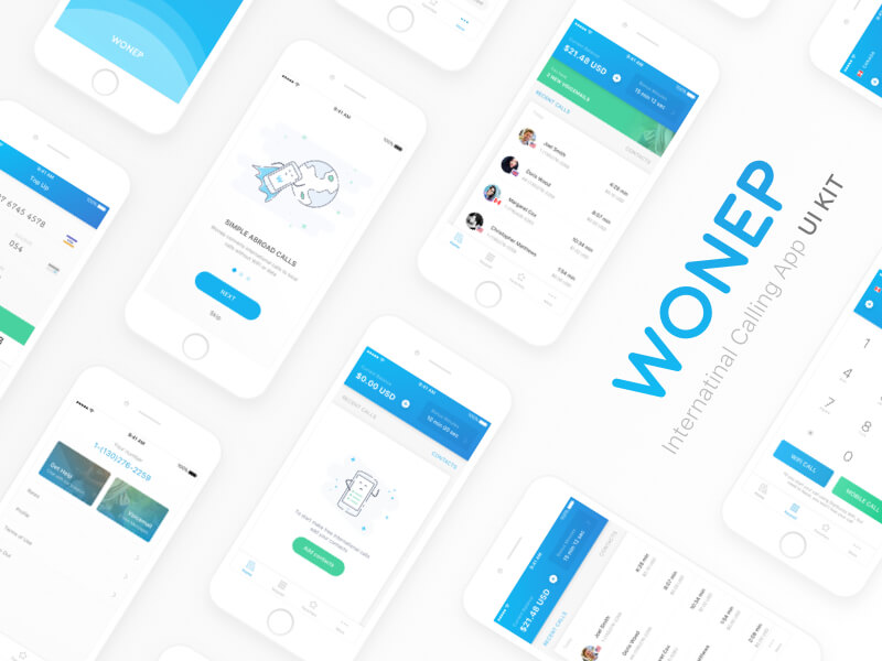 Wonep UI Kit 35 Pages Sketch app