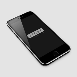 iPhone 7 Jet Black Free PSD Mockup