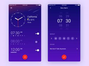 Clock app Design Sketch